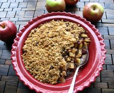 Healthy Apple Cranberry Crisp by thefoodiephysician Apple #Cranberry #thefoodiephysician