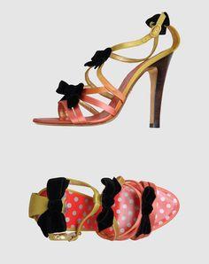 Christian Lacroix - Satin Bow-Detailed Sandals