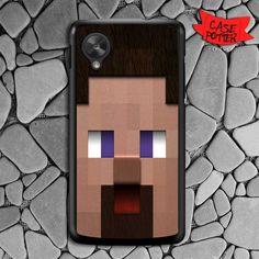 Minecraft Steve Head Nexus 5 Black Case