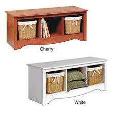 @Overstock - This space-saving cubby bench is a classic piece for the bedroom or living room. With three large compartments and a wooden structure that is available in cherry or white, it guarantees ideal and convenient storage and seating in one.http://www.overstock.com/Home-Garden/Cubby-Bench/1459036/product.html?CID=214117 $96.99