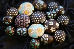 Clay beads by Golem Design Studio