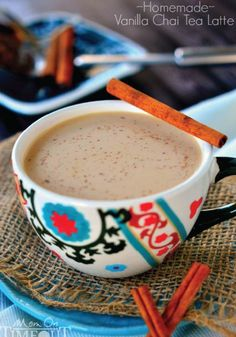 Make your own Vanilla Chai Tea Latte. It's comfort in a cup!