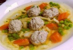 Ragout soup with meatballs Hungarian Cuisine, Hungarian Recipes, My Recipes, Soup Recipes, Cooking Recipes, Beef Tagine, Beef Chorizo, Vegetable Soup Healthy, Italian Soup