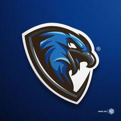 Eagle Mascot, Eagle Logo, Fantasy Football Logos, Hawk Logo, Fantasy Logo, Sports Decals, Game Logo Design, Esports Logo, Sports Team Logos