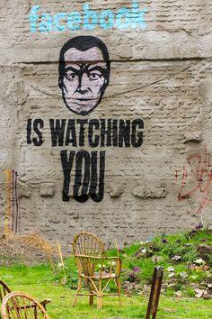facebook's watching you! #citytoks  #streetart