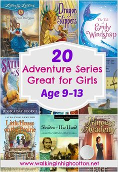 20 great adventure chapter book series for middle grade girls in the yo range. Good choice to engage reluctant readers, several choices fit well with history unit studies, and all are great as read-alouds! via Walking in High Cotton Books For Moms, Book Series For Girls, Reluctant Readers, Reading Resources, Book Girl, Chapter Books, Read Aloud, Great Books, Parenting Hacks