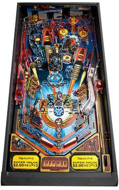 Pinball Machines - Iron Man Pinball Machine - The Pinball Company Flipper Pinball, Blockbuster Film, Arcade Games, Pinball Games, War Machine, Old School, Iron Man, Board Games, Marvel