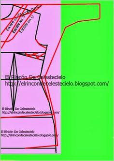 Trazo de patrón manga dolmán sin costura sobre el hombro - El Rincon De Celestecielo