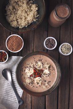 Cacao & Hemp Quinoa Breakfast Bowl {gluten free and vegan}