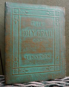 vintage alfred tennyson book - little leather library - the holy grail. $9.00, via Etsy.