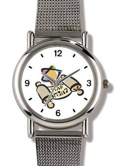 Torah Scroll with Star of David Judaica Jewish Theme - WATCHBUDDY® ELITE Chrome-Plated Metal Alloy Watch with Metal Mesh Strap-Size-Small ( Children's Size - Boy's Size & Girl's Size ) WatchBuddy. $79.95