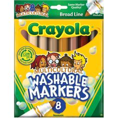 Click Image Above To Buy: Crayola Multicultural Washable Markers - Set Of 8