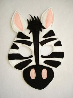Children's ZEBRA Felt Animal Mask