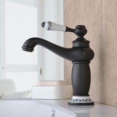 Kaufen (EU Lager) Waschtischarmatur Schwarz Einhandmischer Retro mit Günstigste Preis und Gute Service!