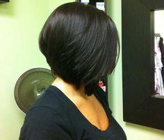 Asymmetrical Bob Haircuts For Round Faces