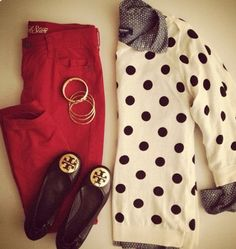 Love the polka dots and shirt! I have the pants
