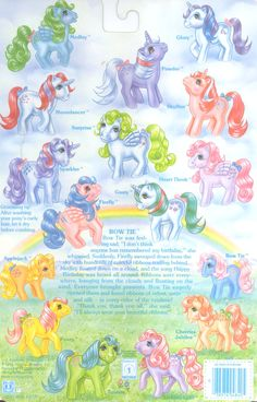 My Little Pony Year 2 Backcard