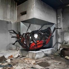 Odeith is a street artist from Damaia, Portugal. Odeith makes realistic drawings using graffiti art. 3d Street Art, Street Art Graffiti, Street Artists, Wall Street, Graffiti Kunst, Graffiti Drawing, Cartoon Graffiti, Banksy Graffiti, Graffiti Artists