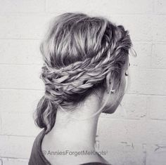 How To: Four Fishtail Braids and Twisted Side Pony