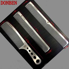 Online Store New Hair Comb Hair Salon Handmade Stainless Steel Hair Cutting Comb, Pro Hairdressing Steel Comb Barber Shop Interior, Barber Shop Decor, Tony Barber, Barber Accessories, Barber Equipment, Master Barber, Barber Supplies, Straight Razor, Beard Care