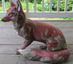 Vintage fox statue