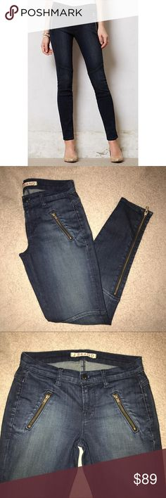 J BRAND Agnes Zipper Moto Skinny Jeans Stock photos added to show the fit. Gently used. Excellent condition. Open to offers. J Brand Jeans Skinny