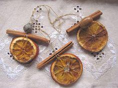 dried orange ornaments