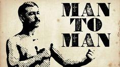 """Man to Man: Talking """"Man Stuff"""" -- I like his mustache. :)"""