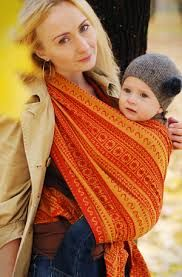 Image result for orange baby wrap