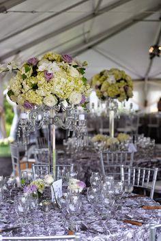 Wedding Re-Cap: The Details. Wedding flowers. White flowers. Purple flowers. Wedding decor. Wedding reception decor.