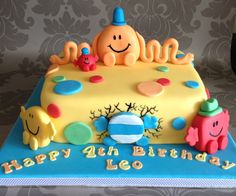 Mr. Men Cake by Mosa Cakes - For all your cake decorating supplies, please visit http://www.craftcompany.co.uk/