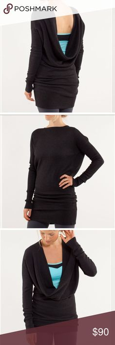 Lululemon Serenity Sweater Wrap Heathered Blk Coal