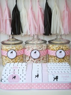 Poodle Skirt Themed Birthday Party via Kara's Party Ideas KarasPartyIdeas.com Cake, tutorials, stationery, favors, supplies, and more! #poodleskirt #poodleparty #pinkandblackparty #poodleskirtyparty #karaspartyideas #girlbirthdayparty #piolkadotparty (29)