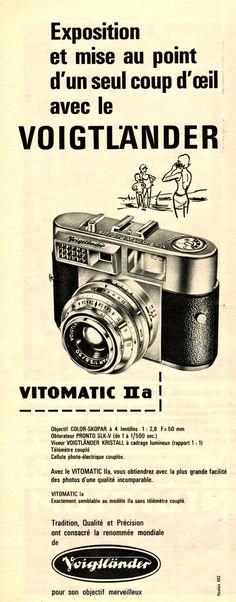 1961 - Voigtlander vitomatic reklamı Voigtlander vitomatic fotoğraf makinesi retrozade.com da!
