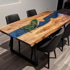 Wood Slab Dining Table, Epoxy Wood Table, Dining Table Height, Dining Table Dimensions, Resin Table, Dinning Table, Wood Tables, Kitchen Tables, Wood Resin
