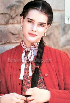 """Brooke Shields on the set of """"King of the Gypsies,"""" 1978."""