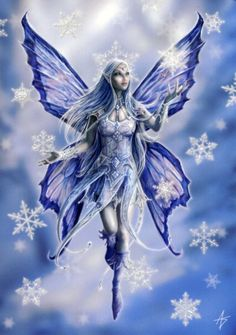Snowflake Fairy Christmas Card - Yule/Winter Solstice - Cards by Occasion / Recipient - Home - Fairy and gothic cards, new age/pagan cards, ...