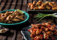 Pei Wei new chicken wings. Szechuan Spice, Honey Sriracha and Thai Sweet Chili