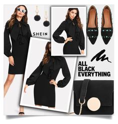 """""""Mission Monochrome: All-Black Outfit"""" by samra-bv ❤ liked on Polyvore"""