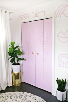 Star trim closet door DIY for baby's nursery