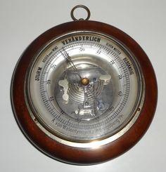 altes Barometer A. von Walentynowicz Königsberg Ostpreussen Holz ~1920 Rarität
