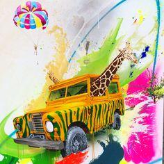 """""""Vild safari"""" 150x120cm Painting by Frederik Hesseldahl _The Art of Clean.dk 2014"""