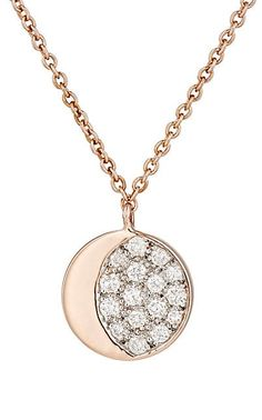 Pamela Love Fine Jewelry Reversible Moon Phase Pendant Necklace - Necklaces - 504492088