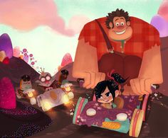 Wreck-It Ralph Vanellope and Ralph