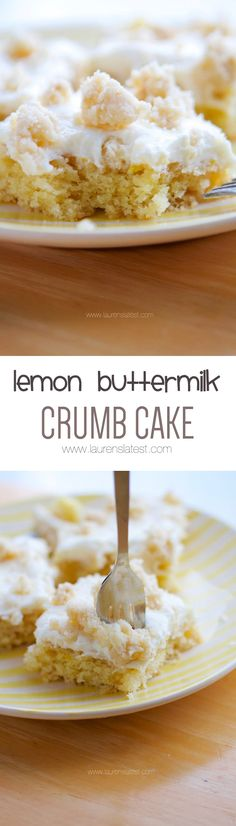 Lemon Buttermilk Crumb Cake