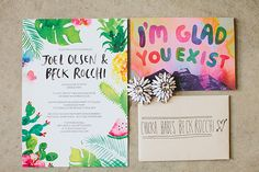Summertime cool #wedding stationery // Photography: Shane Shepherd Photography // Stationery: Santiago Sunbird