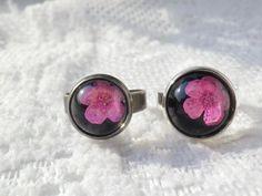 Anny's workshop手作押花飾品,典雅的小手球戒指