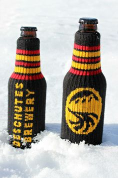 """Looking for some last minute stocking stuffers for the craft beer lover in your life? Keep your beer cool & your hands warm with this adorable Knit Koozie or as we call it, """"The Beer Sweater!"""" http://ow.ly/rMGvl"""