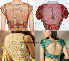 Pretty Sheer Blouse Back Neck Designs Worth Trying Out! photo                                                                                                                                                                                 More