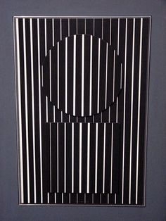 Victor Vasarely 49,  x 65,  cm, Öl-Tempera auf Holz. Signature: on front